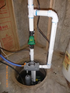 Water powered backup sump pump